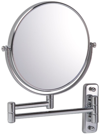 BATHROOM ORIGINS CHROME REVERSIBLE 7x MAGNIFYING ROUND WALL MIRROR, 054904