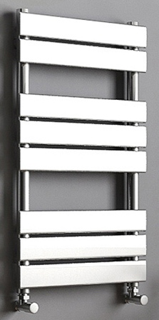 KIRBY SEBASTIAN SAHARA CHROME BATHROOM FLAT PANEL TOWEL RAIL/WARMER, SAH800600F