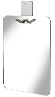 BETTERLIVING PRODUCTS ACRYLIC/CHROME FRAMELESS SHOWER MIRROR, 13545