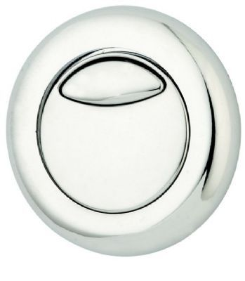 THOMAS DUDLEY CHROME DIO VANTAGE/MINIFLO DUAL FLUSH 51mm ROUND PUSH BUTTON, 322408/327733B