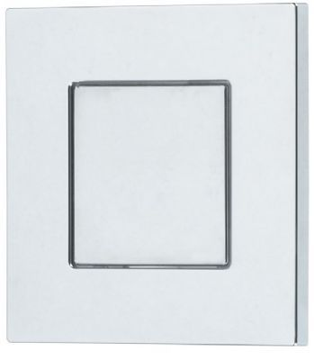 THOMAS DUDLEY CHROME PIAZZA VANTAGE/MINIFLO SINGLE FLUSH 73.5mm SQUARE PUSH BUTTON, 325277