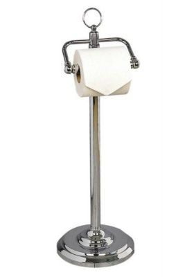 MILLER CLASSIC CHROME BATHROOM FREE STANDING TOILET ROLL/PAPER HOLDER, 5662CH