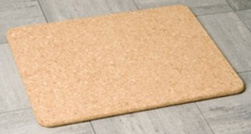 MILLER BEEM CORK BATHROOM RECTANGULAR BATH MAT, 5700