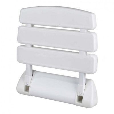 CLEARANCE TRE MERCATI WHITE PLASTIC FOLD UP SHOWER SEAT, 60480