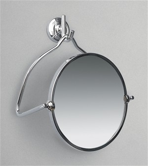 CLEARANCE MILLER CLASSIC CHROME BATHROOM MAGNIFYING ROUND WALL HUNG/FREESTANDING MIRROR, 678C