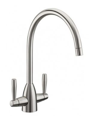 CLEARANCE TRE MERCATI KITCHEN ENZO BRUSHED NICKEL CRUCIFORM MONO SINK MIXER TAP, 68014