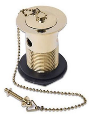 TRE MERCATI ANTIQUE GOLD BASIN BALL CHAIN SLOTTED WASTE with BRASS PLUG, 725