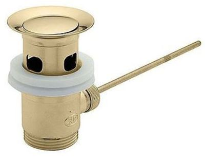 TRE MERCATI ANTIQUE GOLD 1 1/4 inch BRASS BASIN/BIDET POP UP WASTE SECTION ONLY, 726A (ALL GOLD)