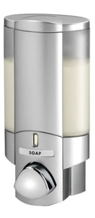 BETTER LIVING PRODUCTS AVIVA 1 SATIN SILVER SINGLE DISPENSER, 76130