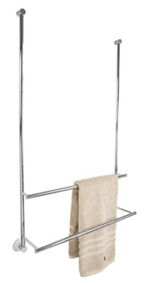 CLEARANCE MILLER CLASSIC CHROME SHOWER DOOR & BATH SCREEN FITTING DOUBLE TOWEL RAIL, 830C