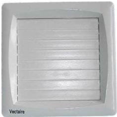 VECTAIRE SAFETY EXTRA LOW VOLTAGE (SELV) IP57 WHITE AUTOMATIC, HUMIDISTAT, TIMER, CORD, NEON 10cm BATHROOM/KITCHEN AXIAL EXTRACTOR FAN, A10/4HCTALV