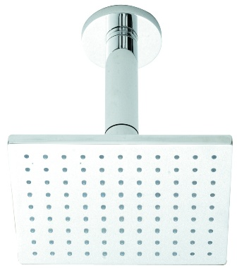 HUDSON REED SQUARE CHROME FIXED SHOWER HEAD & CEILING ARM, A3088/A3220