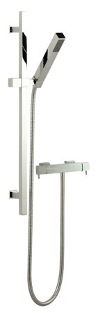 HUDSON REED MINIMALIST QUADRO CHROME EXPOSED THERMOSTATIC BAR SHOWER VALVE & KUBIX SLIDE RAIL KIT, A3503/A3181