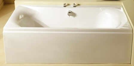 CARRON ALPHA WHITE 1800mm x 800mm CARRONITE DOUBLED ENDED BATH, 23.5111