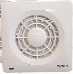 VECTAIRE 'AMF' CENTRIFUGAL WHITE TIMER 10cm BATHROOM/KITCHEN EXTRACTOR FAN, AMF100T