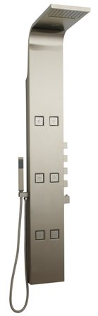 HUDSON REED ASTRAL DREAM THERMOSTATIC CHROME & STAINLESS STEEL SHOWER PANEL/TOWER, AS326