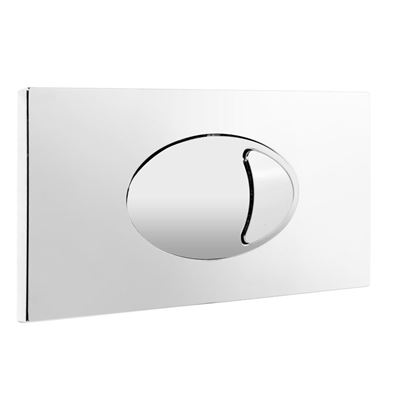 CASSELLIE CHROME LARGE PUSH BUTTON PLATE OPTION for SLCC01/FAC001 CONCEALED CISTERNS, CCPB01