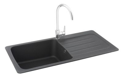 'FREE' PURA TAP with CARRON PHOENIX COLUMBA 100 INSET GRAPHITE SYNTHETIC SINK, 100