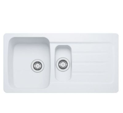 CLEARANCE CARRON PHOENIX COLUMBA 150 INSET ARCTIC WHITE SYNTHETIC SINK, 150