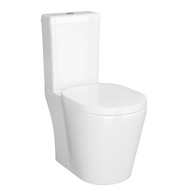 KIRBY SEBASTIAN ALBI WHITE CERAMIC CLOSE COUPLED WC (PAN, CISTERN & SOFT CLOSE SEAT), CT21