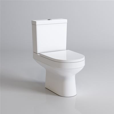 KIRBY SEBASTIAN CESAR III WHITE CERAMIC CLOSE COUPLED WC (PAN, CISTERN & SOFT CLOSE SEAT), CT621CCT