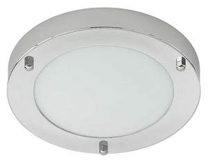 CLEARANCE LIGHTWORKS CHROME ROUND BATHROOM SMALL CEILING LIGHT, D02-3560PC