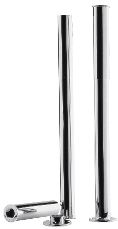 ULTRA CHROME BATH LEGS with ADJUSTABLE SHROUDS, DA314