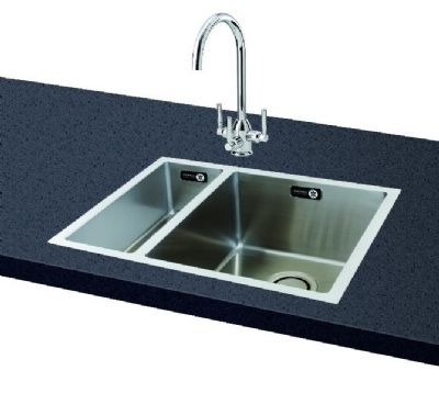 Zoom CARRON PHOENIX DECA 150 UNDERMOUNTED POLISHED STAINLESS STEEL SINK  L/H, ...