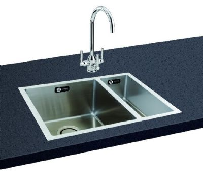 CARRON PHOENIX DECA 150 INSET POLISHED STAINLESS STEEL SINK R/H, 150