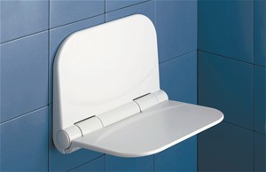 BATHROOM ORIGINS GEDY DINO WHITE HINGED SHOWER SEAT, D182-02