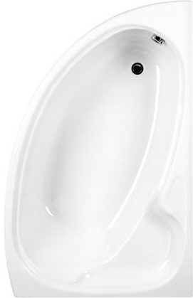 CARRON DOVE WHITE 1550mm x 950mm CARRONITE L/H OFFSET CORNER BATH, 23.2381L