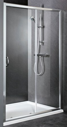 ULTRA PREMIER BATHROOM COLLECTION ELLA SATIN CHROME 1 SLIDING SHOWER DOOR 1000mm, ERSL10
