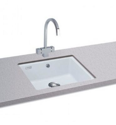 CARRON PHOENIX FIJI 100 UNDERMOUNTED POLAR WHITE GRANITE SINK, 100