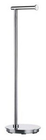 SMEDBO OUTLINE LITE POLISHED STAINLESS STEEL BATHROOM FREE STANDING ROUND TOILET ROLL HOLDER, FK606