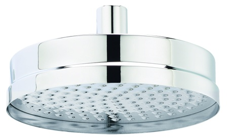 HUDSON REED TEC 8 inch CHROME ROUND FIXED SHOWER HEAD, HEAD01
