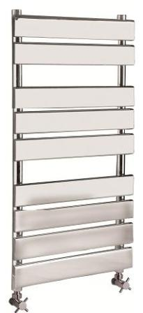 HUDSON REED PIAZZA (9 BAR) CHROME BATHROOM FLAT PANEL TOWEL WARMER, HL382