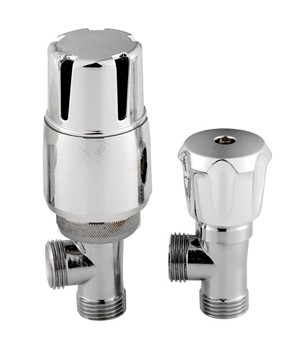 HUDSON REED CHROME THERMOSTATIC ANGLED RADIATOR VALVE, HT326