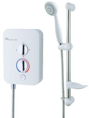 CLEARANCE MX GROUP INTRO ECO 850 WHITE & CHROME 8.5KW ELECTRIC SHOWER, GB6