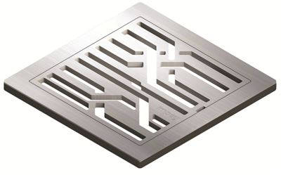 IMPEY AQUA-DEC EASY FIT 'FIBRE' BRUSHED STAINLESS STEEL GRATE 'UPGRADE', QUAD/WJ/02/SS