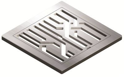 IMPEY AQUA-DEC EASY FIT 'FIBRE' BRUSHED STAINLESS STEEL GRATE 'GRATE ONLY', QUAD/WJ/02/SS