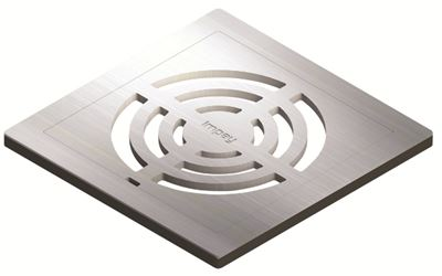 IMPEY AQUA-DEC EASY FIT 'GRID' BRUSHED STAINLESS STEEL GRATE 'UPGRADE', QUAD/WJ/03/SS