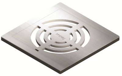 IMPEY AQUA-DEC EASY FIT 'GRID' BRUSHED STAINLESS STEEL GRATE 'GRATE ONLY', QUAD/WJ/03/SS