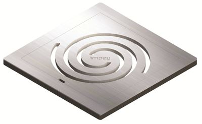 IMPEY AQUA-DEC EASY FIT 'IDENTITY' BRUSHED STAINLESS STEEL GRATE 'UPGRADE', QUAD/WJ/04/SS