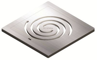 IMPEY AQUA-DEC EASY FIT 'IDENTITY' BRUSHED STAINLESS STEEL GRATE 'GRATE ONLY', QUAD/WJ/04/SS