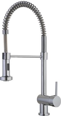 CASSELLIE KITCHEN CHROME MONO SINK MIXER TAP with FLEXIBLE SPRAY, KTAP1.