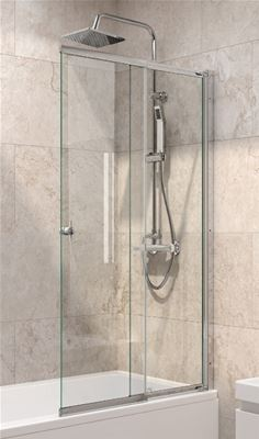 KIRBY SEBASTIAN CHROME SLIDING BATH SCREEN, LB224