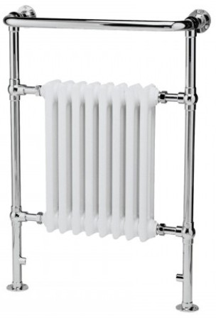 HUDSON REED HARROW CHROME & WHITE BATHROOM TRADITIONAL TOWEL WARMER, MTY022