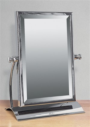 bathroom free standing mirror miller classic chrome bathroom rectangular freestanding 15967