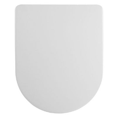 CLEARANCE ULTRA PREMIER LUXURY WHITE 'D' SHAPED SOFT CLOSE TOILET SEAT, NTS007/PP846