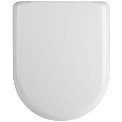 CLEARANCE ULTRA PREMIER STANDARD WHITE 'D' SHAPED SOFT CLOSE TOILET SEAT, NTS002/PP845